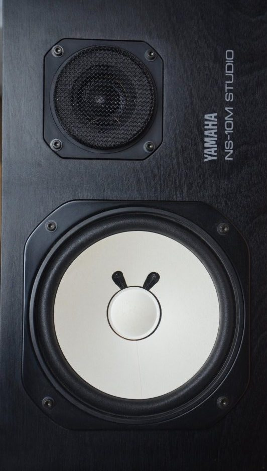 Yamaha NS-10M studio speaker used in top studios around the world in the 80's. Featured on Datismus blog How's Your mixdown environment?
